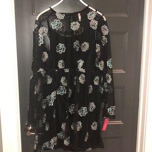 Black mesh babydoll dress XL